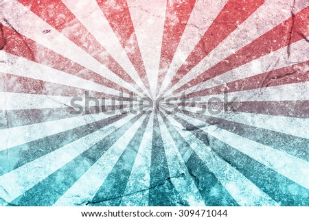 Grunge Sun Sunburst background, vintage sunburst - stock photo