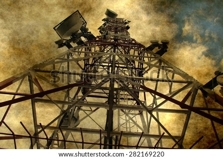 Grunge telecommunication - stock photo