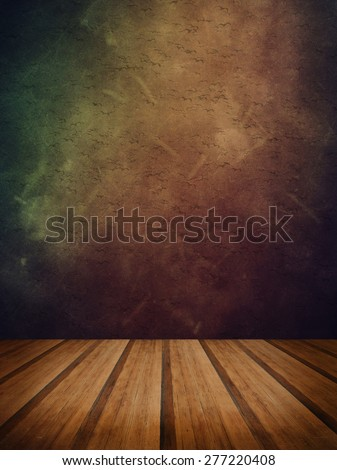 Grunge texture abstract background with wood floor platform - stock photo