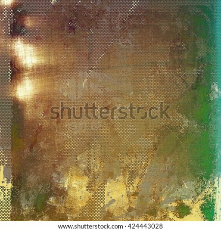 Grunge texture, detailed macro closeup, vintage composition. With different color patterns: yellow (beige); brown; green; blue; gray - stock photo