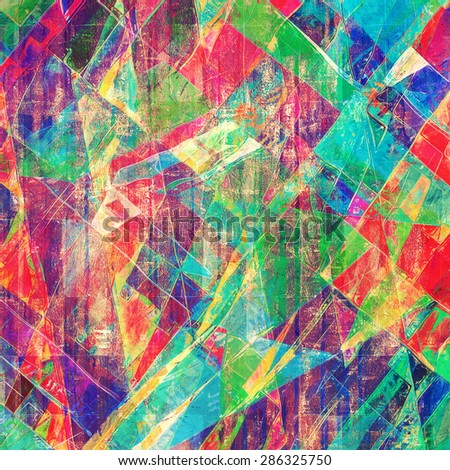 Grunge texture, distressed background. With different color patterns: blue; green; purple (violet); pink - stock photo