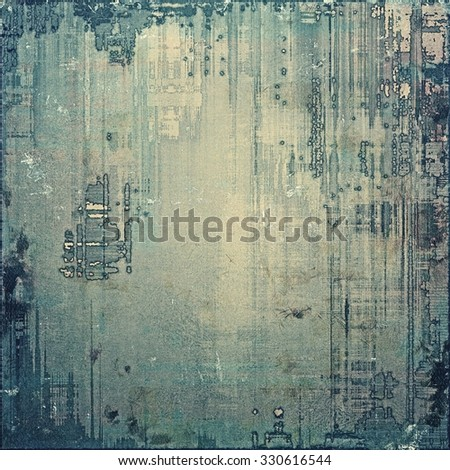 Grunge texture, distressed background. With different color patterns: brown; blue; gray - stock photo