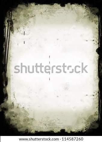 Grunge texture frame - stock photo