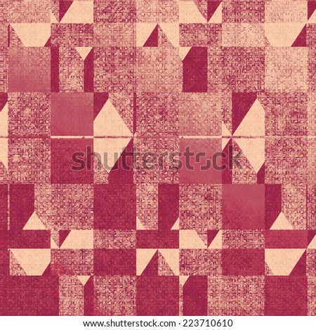 Grunge texture, may be used as background. With yellow, pink, red patterns   - stock photo