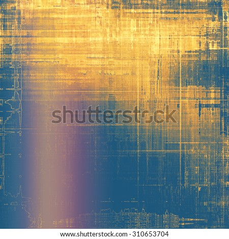 Grunge texture, may be used as retro-style background. With different color patterns: yellow (beige); brown; purple (violet); blue - stock photo