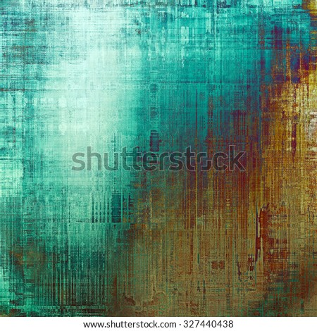 Grunge texture, may be used as retro-style background. With different color patterns: yellow (beige); brown; blue; cyan - stock photo