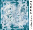 Grunge texture of a rusty blue surface - stock photo