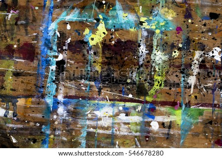 Grunge texture of shabby paint on a wooden surface