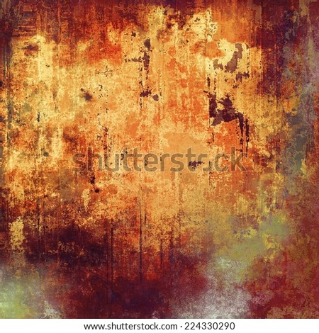 Grunge texture used as background. With yellow, brown, orange, gray patterns   - stock photo