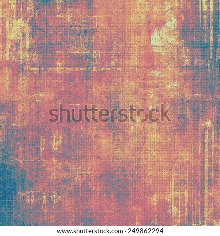 Grunge texture, Vintage background. With different color patterns: yellow (beige); brown; purple (violet); blue; red (orange) - stock photo