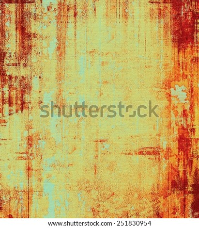 Grunge texture, Vintage background. With different color patterns: yellow (beige); brown; red (orange); cyan - stock photo