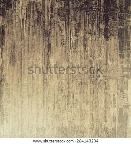 Grunge texture with decorative elements and different color patterns: yellow (beige); brown; black - stock photo