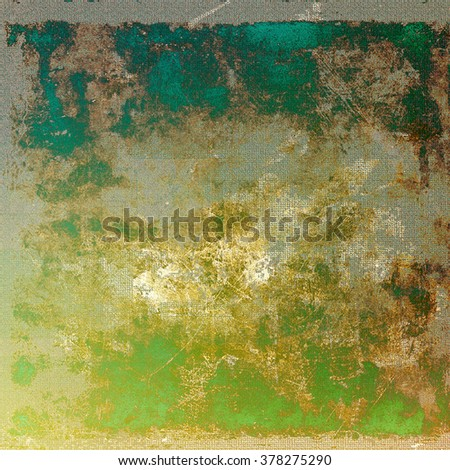 Grunge texture with decorative elements and different color patterns: yellow (beige); brown; green; gray; blue - stock photo