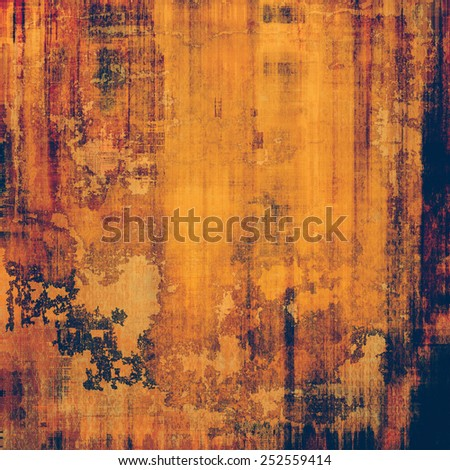 Grunge texture. With different color patterns: yellow (beige); brown; blue; red (orange) - stock photo