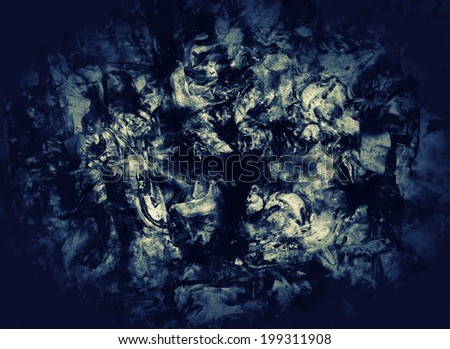 Grunge textured abstract digital background - collage, with space for your text - stock photo