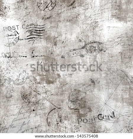 Grunge textured background with mailing signs - stock photo