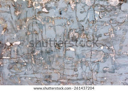 Grunge textured background with old torn newspapers. Landscape style. Grungy Concrete Surface. Great background or texture. - stock photo