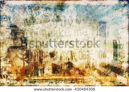 Grunge Textured Background with place for your text or image - stock photo