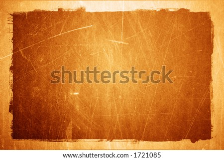 Grunge textured metal background with border