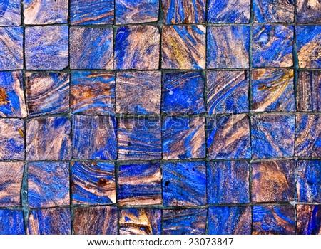 grunge tile mosaic pattern texture - stock photo