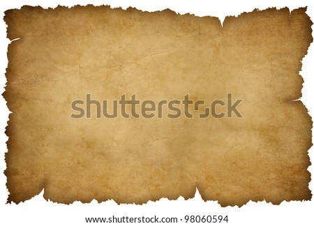 Grunge torn paper isolated on white - stock photo