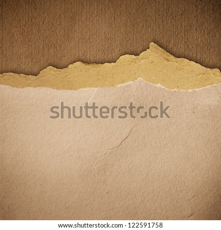 grunge torn paper texture, distressed background - stock photo