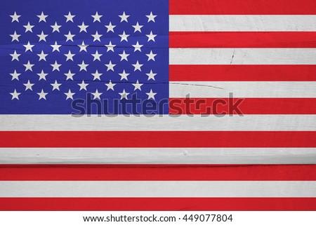 Grunge USA Flag, American flag - stock photo