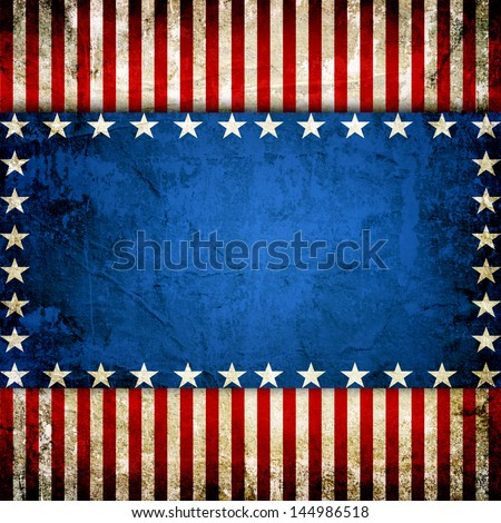 Grunge USA style background - great for 4 july