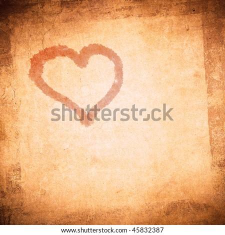 grunge valentine day background - stock photo
