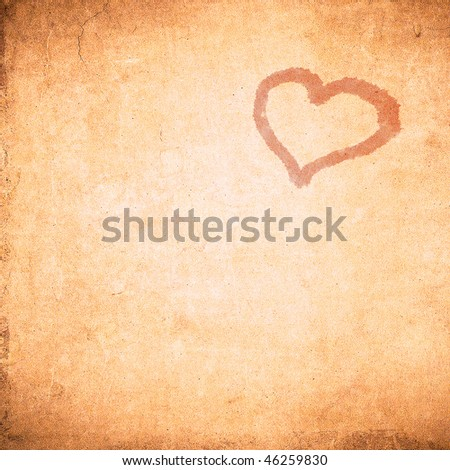 grunge valentine day background - stock photo