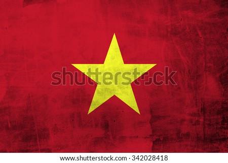 Grunge Vietnam Flag - stock photo