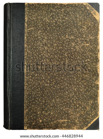 Grunge Vintage Book Cover Blank Empty Antique Ornamental Textured Background Pattern, Old Aged Vertical Stained Texture Beige Brown Black Sepia Isolated Linen Cloth Retro Paper Heritage Metaphor