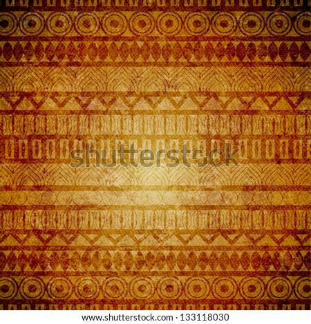 Grunge vintage design with ethnic elements - raster version - stock photo