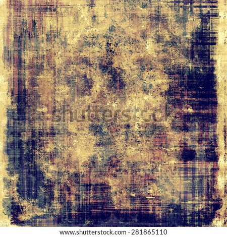 Grunge, vintage old background. With different color patterns: yellow (beige); brown; blue; purple (violet) - stock photo