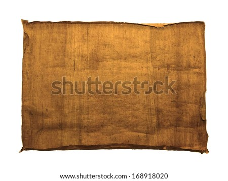 Grunge vintage old paper background isolated on white background  - stock photo