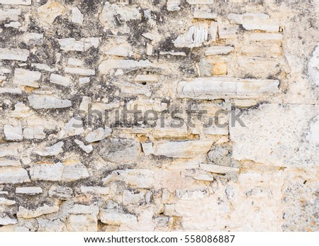 Grunge vintage stone wall background.