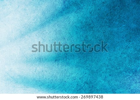 grunge vivid blue color abstract background - stock photo