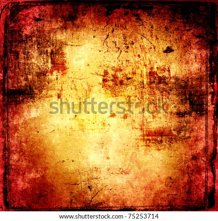 Grunge wall background - stock photo