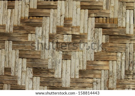 grunge wall bamboo from Thailand
