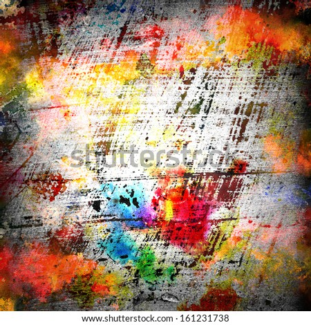Grunge wall design - stock photo