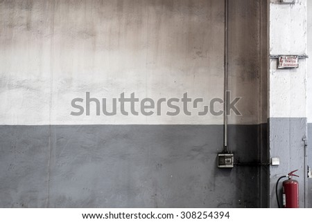 grunge wall, factory texture background - stock photo