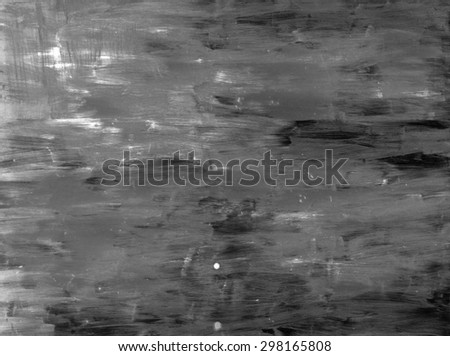 grunge wall in black and white - stock photo