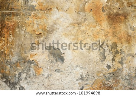 Grunge wall of the old house. Textured background - stock photo