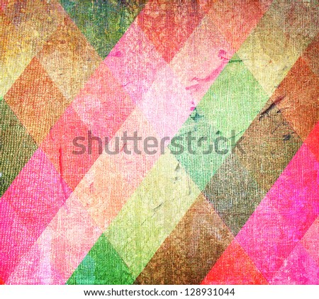 Grunge wall  texture. abstract Thai temple door background - stock photo