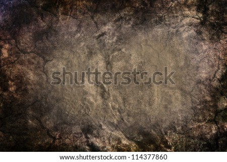 grunge wall use as grunge background - stock photo