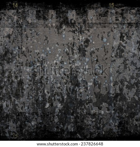 Grunge wall with film strip     - stock photo