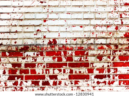 grunge wall with red stains
