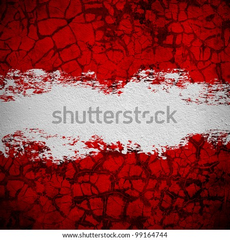 grunge wall with splash space - stock photo