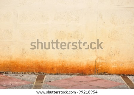 grunge wall with street