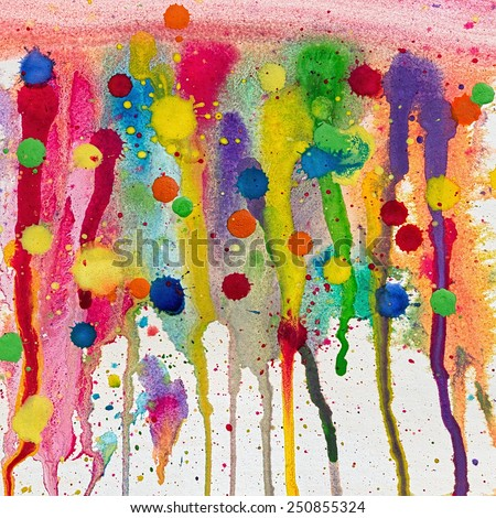 Grunge watercolor background with  blots - stock photo